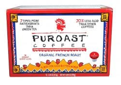 Low Acid Single Serve Organic Dark French Roast- 12 Single Cup Servings Case of 6 1.0 Compatible-0